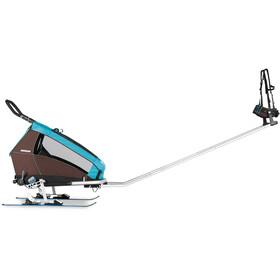 Croozer Set Adaptador de esquí - para Kid Plus / Kid a partir de 2005 negro/Plateado